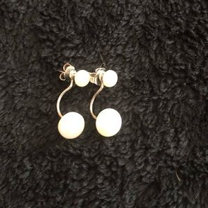 Silpada two in one pearl Earrings